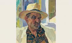 Петр Альберти. Портрет мужчины. Карт.м., 42,5х33,5. 1960