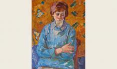 Евгения Антипова. Лида. Х.м., 83х60,5. 1964