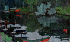Таисия Афонина. Красные лодки. Карт.м., 13х17,5. 1959