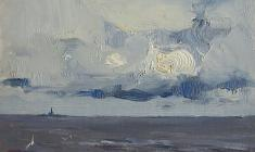 Всеволод Баженов. Балтийское море. Карт.м., 13х18. 1962