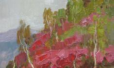 Всеволод Баженов. Алтайские горы. Карт.м., 33,5х30,5. 1953