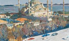 Н. Баскаков. В Стамбуле. Х.м. 40х49. 1968