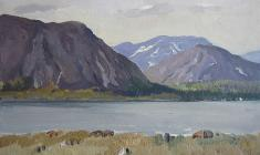 Ирина Балдина. Алтайские горы. Карт.м., 24,3х34,4. 1959