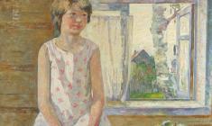 Вениамин Борисов. У окна. Х.м., 66,5х80,5. 1992