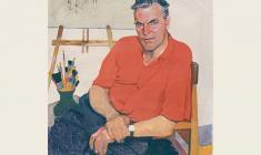 Пётр Бучкин. Портрет художника Петра Васильева. Х.,темп.,100х80. 1961