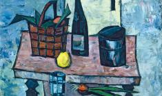 Ростислав Вовкушевский. Натюрморт с лимоном. Х.м.,79,5х89,5. 1980