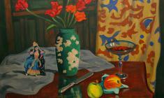 Ростислав Вовкушевский. Тюльпаны. Х.м.,75х90. 1991