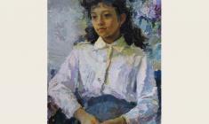 Татьяна Горб. Школьница. Х.м.,70х50. 1986
