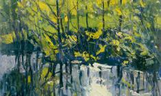 Энгельс Козлов. Солнце в пруду. Карт.м.,50х70. 1963
