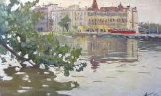 Александр Коровяков. На островах. Х.м., 48х81. 1962