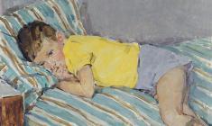 Елена Костенко. Обиженный. Карт.м.,50х70. 1963