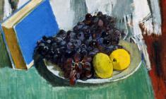 Геворк Котьянц. Чёрный виноград. Х.м.,40х50. 1950