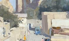 Борис Лавренко. Мечеть Биби Ханым. Карт.м.,50х40. 1961