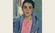Валерия Ларина. Жена рыбака с реки Трубеж. Карт.м.,54х39. 1960