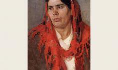 Дмитрий Маевский. Маша Чёрная. Карт.м.,60х44,7. 1966