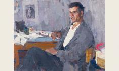 Пётр Назаров. Молодой рабочий. Х.м.,61х80. 1965