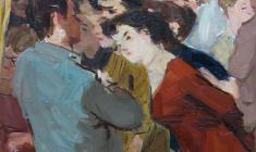 Михаил Натаревич. Открытый день. Карт.м.,32,8х31,5.,1957