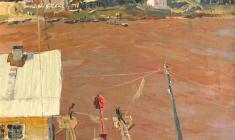 Владимир Овчинников. На  Волхове. Х.м.,61х50. 1969