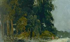 Владимир Овчинников. Перед дождём.,Х.м.,60х70. 1954