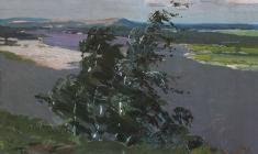 Владимир Овчинников. Днепр. Карт.м.,32х48. 1954