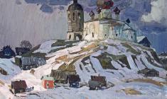 Владимир Овчинников. Скоро весна. Х.м.,60х70. 1972