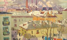 Владимир Овчинников. Ульяновск. Х.м.,60х80. 1963