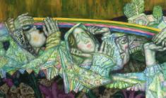Олег Гуренков. Радуга. Х.м.,140х100. 2004. Фрагмент