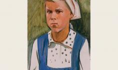 Сергей Осипов. Сердитая девочка. Карт.м.,48х33. 1966