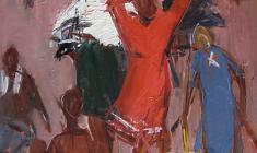 Сергей Осипов. Время жатвы. Этюд к картине. Карт.м.,48,5х35. 1963