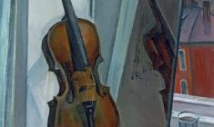 Сергей Осипов. Натюрморт со скрипкой. Х.м.,70х60. 1960