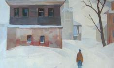 Сергей Осипов. Зима. Старица. Х.м.,65х57. 1974