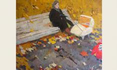 Николай Позднеев. Осенний день. Х.м.,133х160. 1961