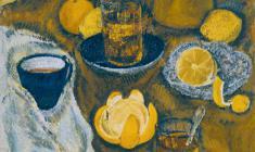 Капитолина Румянцева. Натюрморт с апельсинами. Х.м.,70х50. 1990