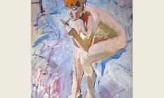 Лев Русов. Зеркальце. Дер.м.,120х101. 1960