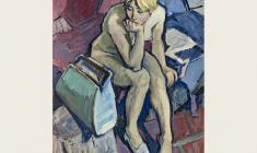 Лев Русов. Свежая модель. Х.м.,130х100. 1961