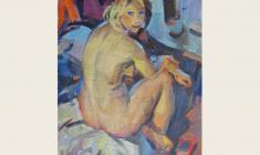 Лев Русов. Обнажённая. Х.м.,70х49. 1962
