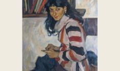 Лев Русов. Наринэ. Х.м.,95,7х74,5. 1962