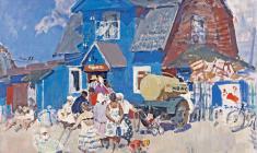 Г. Савинов. Дачный магазин. Х.м. 91х106. 1961
