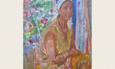 Г. Савинов. Портрет художницы Ольги Богаевской. Х.м.,102х75. 1982