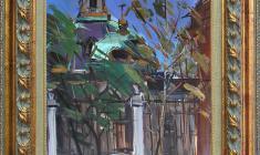 Семёнов А. Н. (1911-1992). Этюд с собором. 1960. Картон, масло, 48 х 33. Авторская подпись и дата на обороте. Цена: 85.000 руб. // Arseny Semionov (1911-1992). Etude with Cathedral. 1960. Oil on cardboard, 48 x 33 cm. Signed, inscribed in Cyrillic and dated 1960 on the reverse. Price: 85.000 rub.