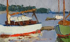 Н. Штейнмиллер.Яхты. Карт,м., 12х18. 1961