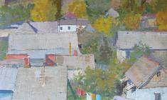 Владимир Саксон. Деревня Горячий Ключ. Карт.м.,68х48,2. 1970