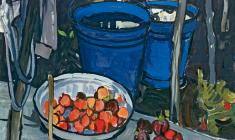 Е. Скуинь. Синие вёдра. Х.м.,94х99. 1971