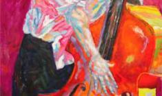 В. Солодкий. Билли.Х.м.,флюоресцентные краски, 120х150. 2003