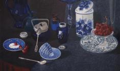 Вальцефер Юлия. Синий натюрморт. Х.м. 55х70. 2015.
