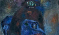 В.Тюленев. Полночь. Х.м., 98х80. 1990