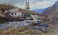 Александр Семёнов. Алтай. Черга. Карт.м.,21,5х35. 1954