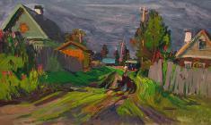Александр Семёнов. Перед грозой. Карт.м.,40,5х70,3. 1980