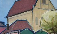 Арсений Семёнов. Церковь. Х.м.,68х49. 1966