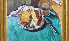 Геворк Котьянц (1906-1996). Кекс. Х.м., 40х50. 1956. Цена по запросу. Gevork Kotiantz. Cake. Oil on canvas. Price on request.  克瓦洛克 卡金茨